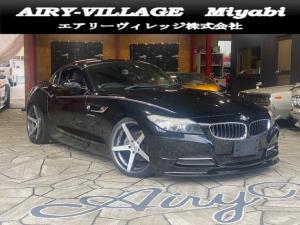 BMW Z4 sDrive23i ハイラインパッケージ ディーラー車/電動オープン/黒レザーシート/H&R製ダウンサス/社外19インチAW/F・Rスポイラー/純正HDDナビ/フルセグ/DVD再生可/ETC/シートヒーター/スマートキー/車検令和4年9月迄