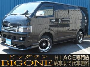 トヨタ ハイエースバン ロングスーパーGL 4WD/社外SDナビ/地デジ/ETC/社外AW