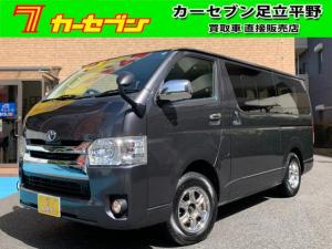 トヨタ ハイエースバン スーパーGL 4WD/ディーゼル/ナビ/フルセグ/スマートキー/LEDヘッドライト/1オーナー