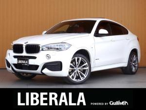 BMW X6 xDrive 35i Mスポーツ セレクトPKG サンルーフ 赤革シート ナイトビジョン 液晶メーター ヘッドアップD ACC 衝突軽減B LDW LCW 360カメラ ソフトクローズドア 20cinAW 純正ナビTV パワーバックD