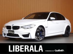 BMW M3 M3 アダプティブMサス 黒革シート Mキャリパー 純正19incAW 純正ナビTV Bカメラ PDC衝突軽減B LDW LCW パドルシフト コンフォートアクセス プッシュスタート アイドリングストップ