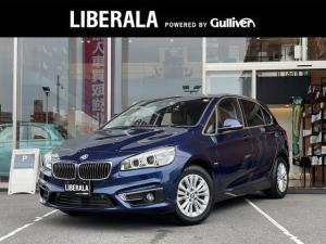 BMW 2シリーズ 218dアクティブツアラー ラグジュアリー 茶革 Bカメラ フルセグ Pバックドア シートH Pシート ETC 社外ドラレコ