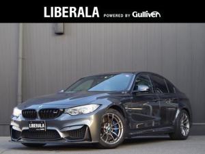 BMW M3 M3 セダン カーボンルーフ カーボンFRスポイラー Mパフォテール シルバーストーンレザーシート ヘッドアップD  純正iDriveナビ地デジ バックカメラ 黒キドニーグリル インテリセーフ レーンキープ