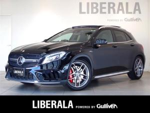 メルセデスAMG GLAクラス GLA45 4マチックアドバンストPKG サンルーフ 黒革