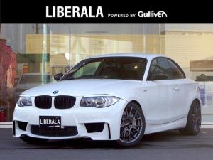 BMW 1シリーズ 135i ・純正HDDナビ/CD/DVD/AUX/BT・黒革シート/シートヒーター/PWシート・ローダウン(KW)・社外18AW(BBS)・キセノンライト・パドルシフト・ETC・オートライト・トランクリップ