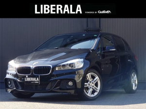 BMW 2シリーズ 218iアクティブツアラー Mスポーツ 純正HDDナビ MSV Bluetooth CD DVD AUX USB バックカメラ ETC 社外レーダー探知機 インテリジェントセーフティ 17インチAW