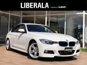 BMW 3シリーズ 320d Mスポーツ インテリジェンセーフティ レーンキープアシスト 純正ナビ BT CD DVD AUX USB ACC バックカメラ HIDヘッドライト プッシュスタート オートライト 純正18インチアルミ