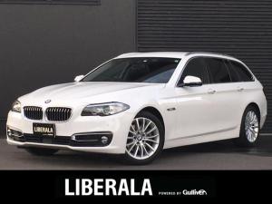 BMW 5シリーズ 523dツーリング ラグジュアリー ACC 衝突軽減ブレーキ 車線逸脱警告 iDriveナビ TV バックカメラ 後席モニター 黒革 パワーシート シートヒーター コンフォートアクセス パワーバックドア ETC 18インチAW