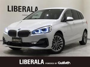 BMW 2シリーズ 218dグランツアラー ラグジュアリー ブラックレザーシート シートヒーター 純正HDDナビ バックカメラ LEDヘッドライト メモリー付パワーシート パワーバックドア 純正17AW インテリジェントセーフティ コーナーセンサー ETC