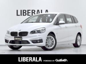 BMW 2シリーズ 218dグランツアラー ラグジュアリー 茶革 パワー/メモリー/ヒーター インテリジェントセーフティ  LEDヘッドライト オートライト F/Rフォグ レインセンサー  iDriveナビ CD/DVD/AUX/HDD/BT バックカメラ