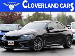 BMW M2 コンペティション ナビ・バックカメラ DVD ブルートゥース ハーマンカードン 黒革シート Mパフォーマンス・F/S/Rスポイラー・リアウィング パドルシフト 衝突軽減ブレーキ・車線逸脱警報 19AW
