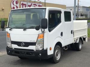 日産 アトラストラック WキャブスーパーローDX 走行1万キロ車検整備付未登録車オイル交換サービス保証付