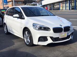 BMW 2シリーズ 218dグランツアラー Mスポーツ DIESELターボ HDDナビ Bカメラ Bluetooth ステアリングリモコン クルコン Fドラレコ パワーリアゲート LEDヘッドライト ブレーキサポート レーンキープ プッシュスタート ETC