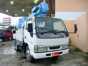 いすゞ エルフトラック 350高所作業車 八都県市指定粒子状物質減少装置装着証明書有