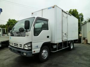 いすゞ エルフトラック 3.5t超ワイドロング 保冷バン 3枚扉 サイドドア 高床