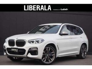 BMW X3 M40d 1オーナー 黒革 HUD ACC 純正ナビ 360カメラ TV コンフォートA 純正21インチAW スタッドレスAW有 LED パーキングアシスト+ ドライビングアシスト+ インテリSFT ドラレコ