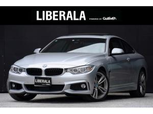 BMW 4シリーズ 435iクーペ Mスポーツ ワンオーナー サンルーフ OP19インチAW ACC レーンディパーチャウォーニング 純正HDDナビ フルセグTV HUD 赤革シート パドルシフト シートヒーター FRコーナーセンサー HID