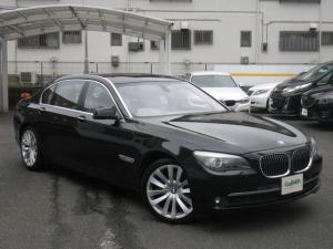 BMW 7シリーズ 750Li ワンオーナー サンルーフ リアエンター 純正HDDナビ パワートランク 前後ドラレコ 純正OP20インチAW ベージュ革シート 全席ベンチレーション&ヒーター ETC BMWディーラー点検記録8枚あり