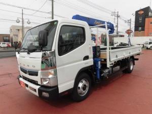 三菱ふそう キャンター  ワイド超ロング DE-TB 4段クレーン 3.35t積載 タダノ製2.93t吊
