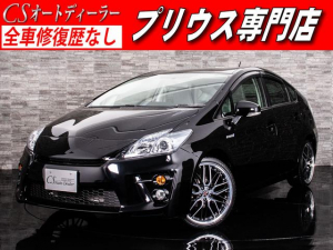 トヨタ プリウス S G'sバンパー 新品19インチAW&新品タイヤ SDナビ