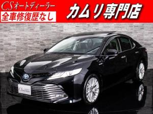 トヨタ カムリ Gレザーパッケージ 1オーナー SR 黒本革 Fプリクラ