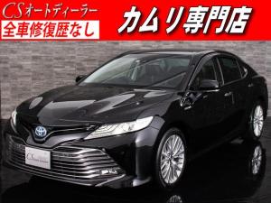 トヨタ カムリ Gレザーパッケージ 黒革 禁煙車 BSM プリクラ クリソナ