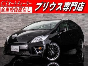 トヨタ プリウス G 新品G'sバンパー 新品フルエアロ 新品19インチアルミ LEDヘッドライト カラーバックカメラ SDナビ CD DVD再生 フルセグ地デジ Bluetooth イモビライザー ABS ハイブリッド