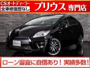 トヨタ プリウス S サンルーフ/新品G'sフェイス装着/新品19インチアルミ&タイヤ/スマートキー&プッシュスタート/