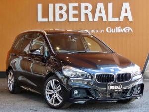BMW 2シリーズ 218dグランツアラー Mスポーツ インテリジェントセーフティ サンルーフ 社外フルセグ harman/kardon ガラスフィルム