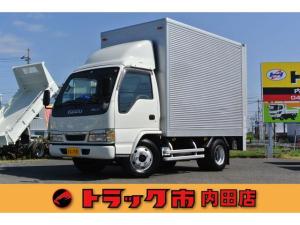 いすゞ エルフトラック 積載3.65t 全低床アルミドライバン 垂直パワーゲート 新明和PG・日本フルハースアルミバン