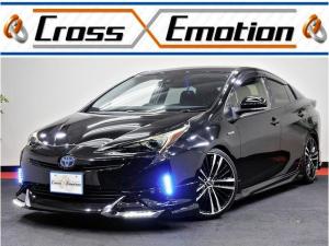 トヨタ プリウス S モデリスタ仕様車 キャンディースモークテール加工 キャンディーヘッドライト加工 CROSS特別仕様 レッドキャリパー塗装 新品アルミホイール 新品タイヤ サイドアンダーイルミネーション フルエアロ