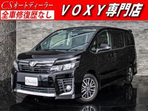 トヨタ ヴォクシー ZS 両側自動ドア 後席モニター 黒革調 HDDナビ