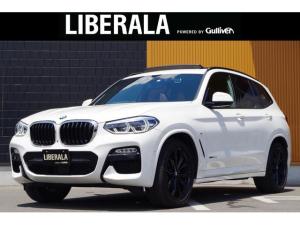 BMW X3 xDrive 20d Mスポーツ セレクトパッケージharman/kardon パノラマサンルーフ ブラウンレザーシート アクティブクルーズコントロール インテリジェントセーフティ 前後ドライブレコーダー 純正20インチAW