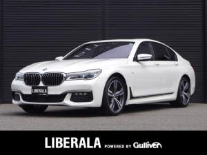 BMW 7シリーズ 740i Mスポーツ サンルーフ/黒革/ハーマンカードン/後席モニター/追従クルコン/全周囲カメラ/HUD/LEDレーザーライト/前Pシート/全席シートヒーター/前エアシート/純正HDDナビ/ジェスチャーC/スペアキー