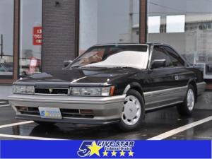 日産 レパード XS-IIターボ 前期型 純正ブラックツートン ワンオーナー車 純正フロントリップスポイラー リアスポイラー 純正フロアマット デジタルメーター走行83600km 取説 保証書付き