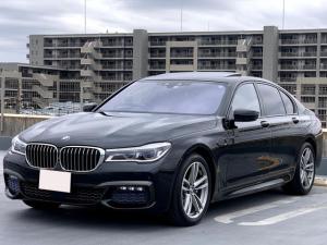 BMW 7シリーズ 740i Mスポーツ ヘッドアップディスプレイ エグゼクティブドライブゼロ サンルーフ ソフトクローズ トップビューカメラ モカナッパレザー BMWレーザーライト Mスポーツ19インチアルミホイール