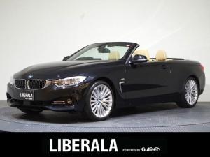 BMW 4シリーズ 435iカブリオレ ラグジュアリー 1オーナー/ベージュレザー/HUD/ACC/LKA/エアスカーフ/純正ナビ&地デジ/コーナーセンサー/パワーシート/衝突被害軽減ブレーキ/パドルシフト/バックカメラ/LEDヘッドライト/ETC