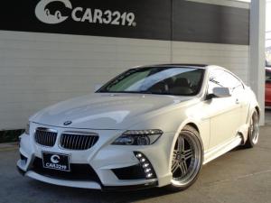 BMW 6シリーズ 650i ENERGYコンプリート 20インチAW ブラックレザー ローダウン サンルーフ BMW純正ナビ HID ENERGYマット シートヒーター プッシュスタート パークセンサー