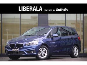 BMW 2シリーズ 218dグランツアラー パーキングサポートPKG レーンキープアシスト パワーテールゲート Bカメラコンフォートアクセス PDC 衝突警告 歩行者警告 車線逸脱警告 純正HDDナビ Bカメラ 純正17インチAW