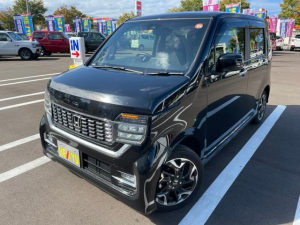 ホンダ N-WGNカスタム L・ターボホンダセンシング 4WD 禁煙車 ワンオーナー Bluetooth バックカメラ レーダークルコン 衝突低減 コーナーセンサー パドルシフト ミラーヒーター プッシュスタート LEDライト シートヒーター ETC