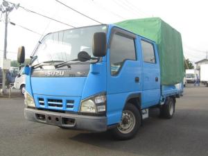 いすゞ エルフトラック  1.15t・ダブルキャブ・アコーディオン式幌付・AT