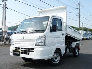 スズキ キャリイトラック  新明和製スチフナ強化ダンプ・4WD・AT・PW・キーレス・アオリ高さ320mm