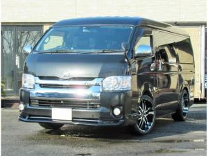 トヨタ ハイエースワゴン GL 4型仕様 パワスラ キーレス HDDナビ アルパインリアモニター 20インチAW ローダウン