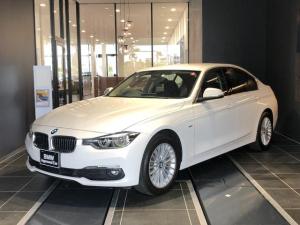 BMW 3シリーズ 320iラグジュアリー ワンオーナー 禁煙車 HDDナビ ブラックレザーPシート インテリセーフティ CアクセスSOS バックカメラETC ヘッドアップD DVD再生/Bluetooth 前後クリアランスソナー
