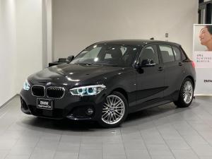 BMW 1シリーズ 118i Mスポーツ 車検整備付 アクティブクルーズコントロール 禁煙車 後期モデル 衝突被害軽減ブレーキ 17インチAW LEDヘッドライト 車線逸脱警告 ミラーETC 純正HDDナビ Blutooth