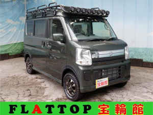 スズキ エブリイワゴン JPターボ HARD CARGOキャンピング仕様4WD/リフトアップ/MAD14AW/MTタイヤ/パナソニック9型ナビ/DVD/フルセグTV/前後ドラレコ/バックカメラ/ETC2.0/ベットキット/サブバッテリー