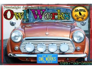ローバー MINI 希少MT 600台限定 クーパー スポーツパックリミテッド 希少な世界600台限定車 MT 限定色ボルケーノオレンジ メッキワイパー フェンダーミラー 社外AW 社外マフラー 社外ハイローキット ウッドパネル内装 アニバーサリーハンドル
