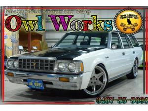 トヨタ クラウンバン  5名乗車4ナンバー公認 スーパーデラックスグレード MT5速 フロント車高調 リアエアサス(純正あり) WORK-LS19インチAW 丸目4灯 ウッドステアリング パワステ・エアコン不具合無し