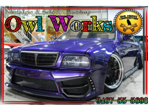 日産 シーマ リミテッド ロックフォード カスタムオーディオ エアサス センスブランド サイドマフラー Work グノーシス ワンオフエアロ フルカスタム ワイドボディ  深リム VIP V8 オールペン