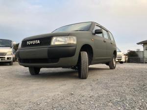 トヨタ プロボックスバン  DX オールペイント(国防色)2インチリフトアップ オリジナルTOYOTAグリル マキシスバックショット195r14デイトナ(タイヤ) 艶消しブラック塗装(バンパー)